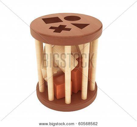 Children Wooden Shape Sorter Toy