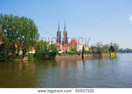 island Tumski, Wroclaw, Poland