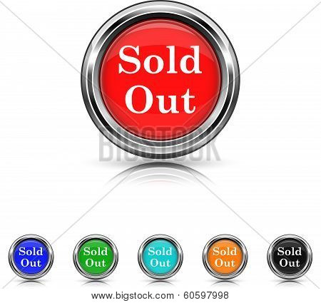 Sold Out Icon - Six Colors Vector Set