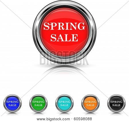 Spring Sale Icon - Six Colors Vector Set