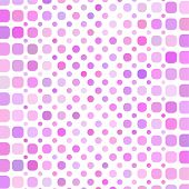Pink circle mosaic background, vector retro fine illustration poster