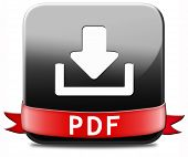 pdf file download or document downloading button or icon poster