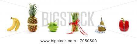 Obst und Gemüse parade