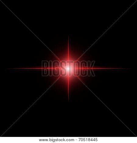 red Star burst light beam  abstract  vector poster