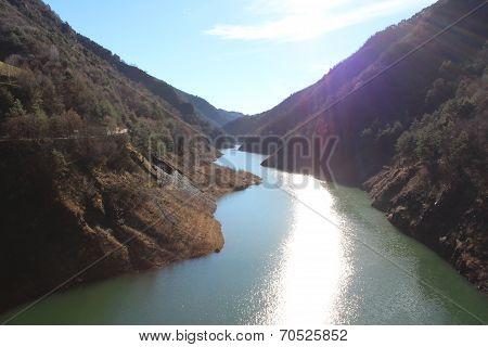View of Lake Idro, Italy
