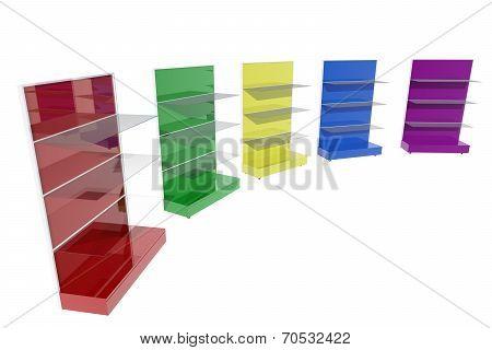Colorful Furniture Shelves