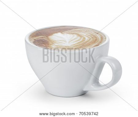 Fresh Cappuccino With Simple Latte Art