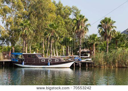 Boat In Dalyan River