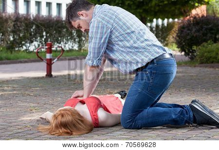 Man Doing First Aid