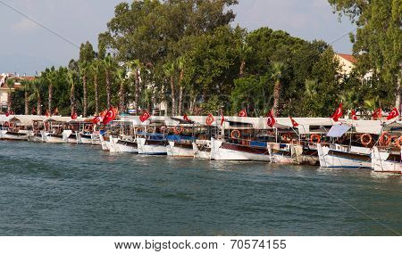 Boats In Dalyan River