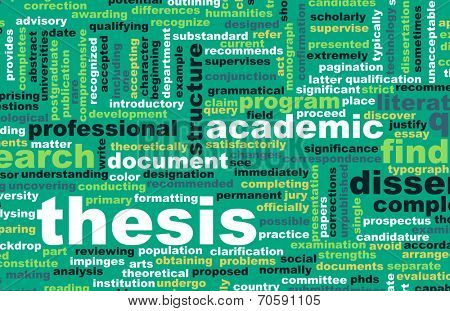 Thesis Paper and Academic Essay as Concept