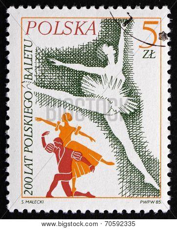 Postage Stamp Poland 1985 Prima Ballerina