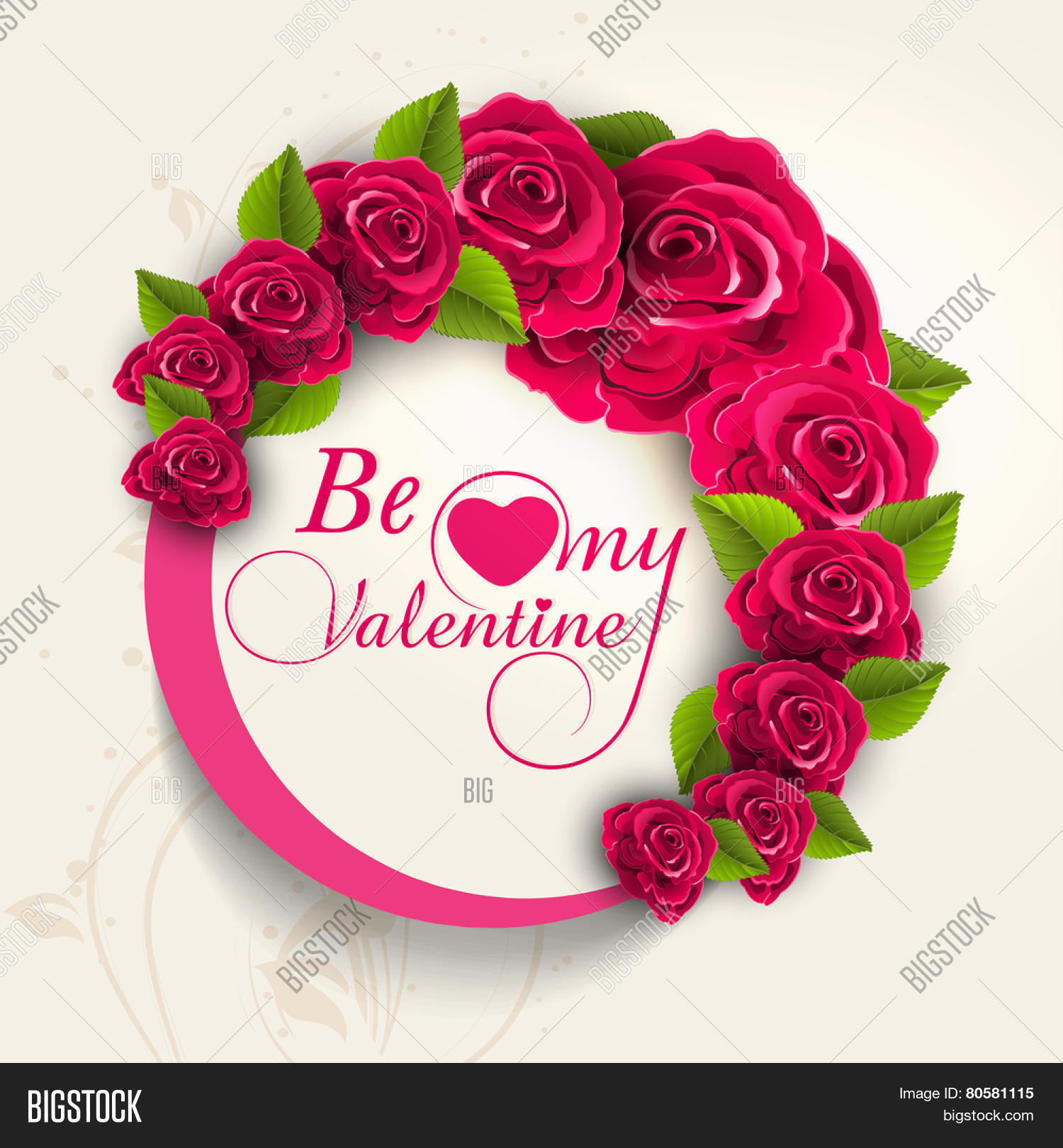 Beautiful frame vector photo free trial bigstock beautiful frame decorated by rose flowers with text be my valentine for happy valentines day celebration izmirmasajfo