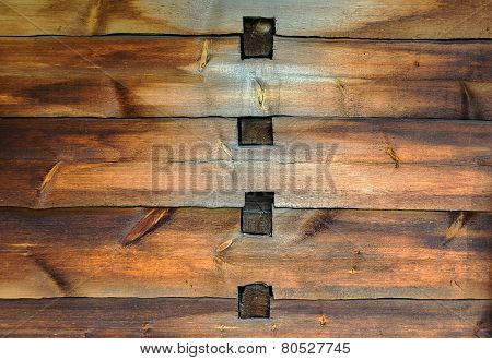 Old Wooden Wall With Joints