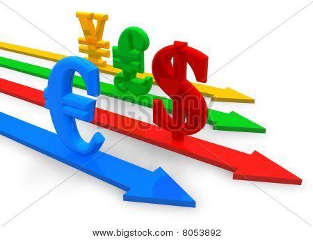 Currencies concept