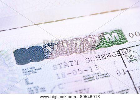 Passport with European Union Shengen Visa Czech Republik