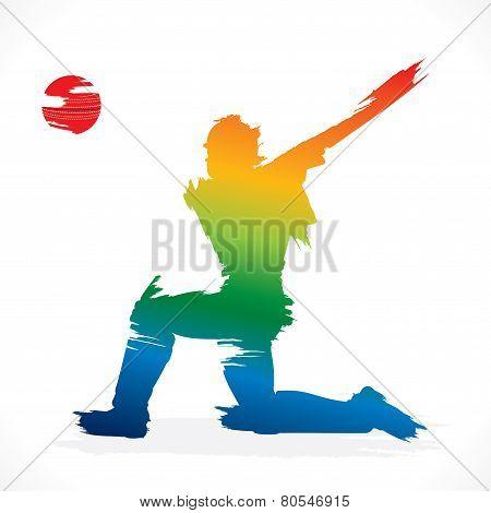 cricket banner design vector