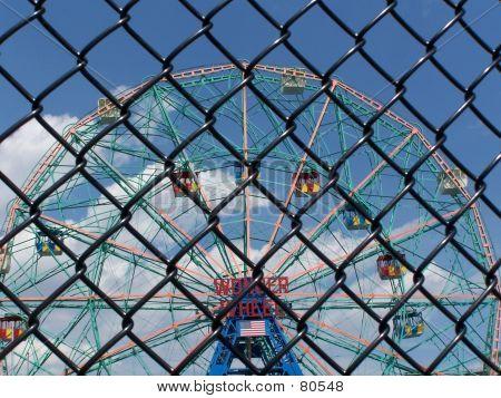 The Wonder Wheel At Coney Island Brooklyn NY poster