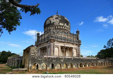 Historic Quli Qutb Shahi tombs in Hyderabad.