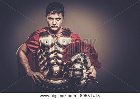 Roman legionary soldier in amour