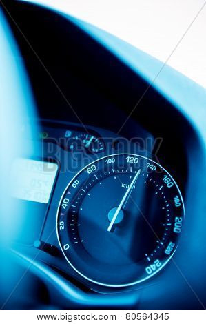 Speedometer Close-up With Excesive Speed
