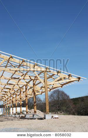 Barn Under Construction Vertical