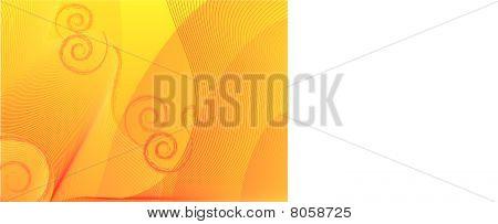 orange swirls background