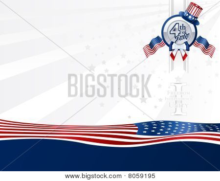 Background for 4th of July in U.S. Colors