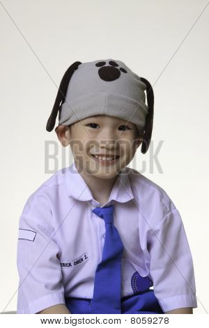 Asian School Boy