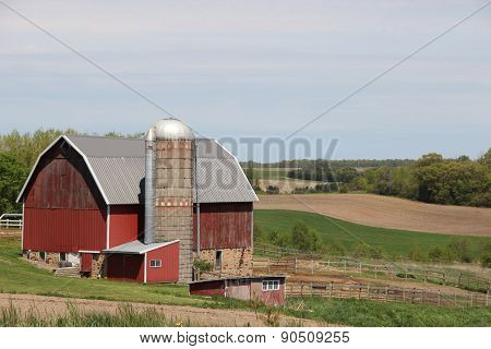 Rural Landscape Red Barn