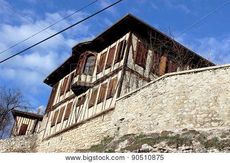 Old style Turkish konak country house in Safranbolu, Turkey