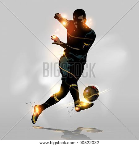 Abstract Soccer Quick Shooting