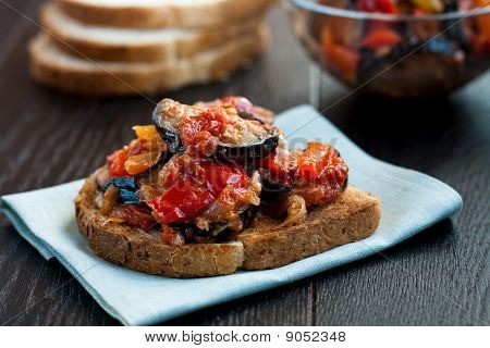 Toast With Vegetable Ragout