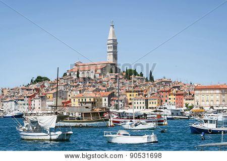 Marina And Old City Core Of Rovinj