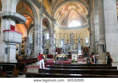 Interior Of Saint Euphemia Basilica In Rovinj