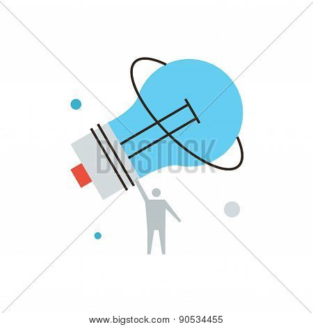 Big Idea Line Icon Concept
