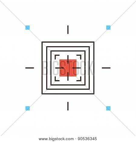 Wireless Identification Flat Line Icon Concept