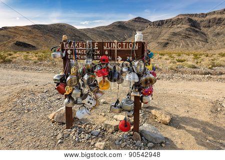 Teakettle Junction In Death Valley