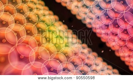 Color Circle Cells Arrange To Tunnel