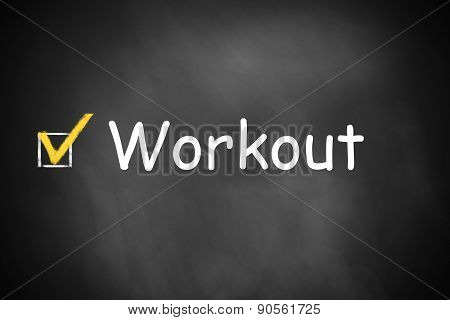 Chalkboard With Checkbox Workout Done