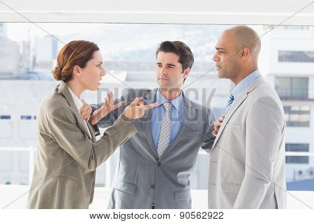 Business colleagues having a disagreement in the office