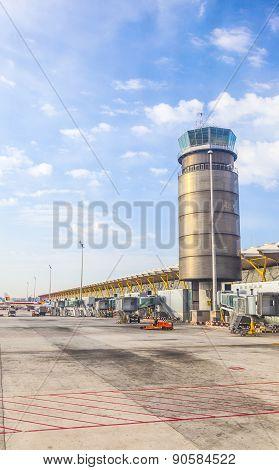 Tower At Terminal 4 At Barajay Airport
