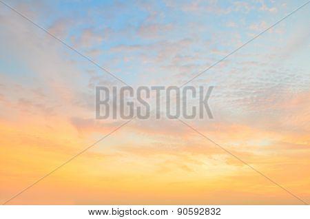 Twilight Sky With Orange Gradient