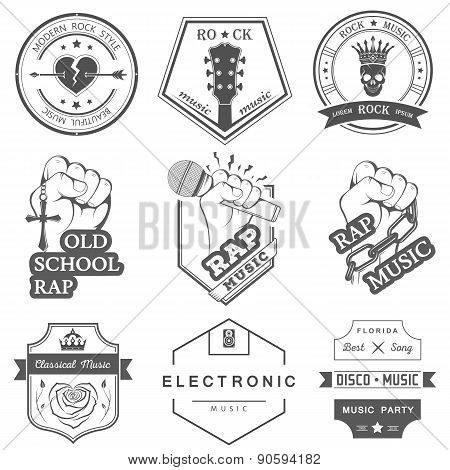 Set Of Vector Badges Music