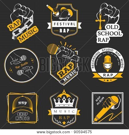 Set Badges Rap Music