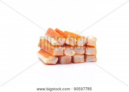 fish delicius sticks commonly called crab sticks