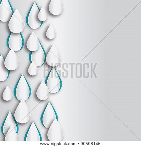 Raindrop vector background