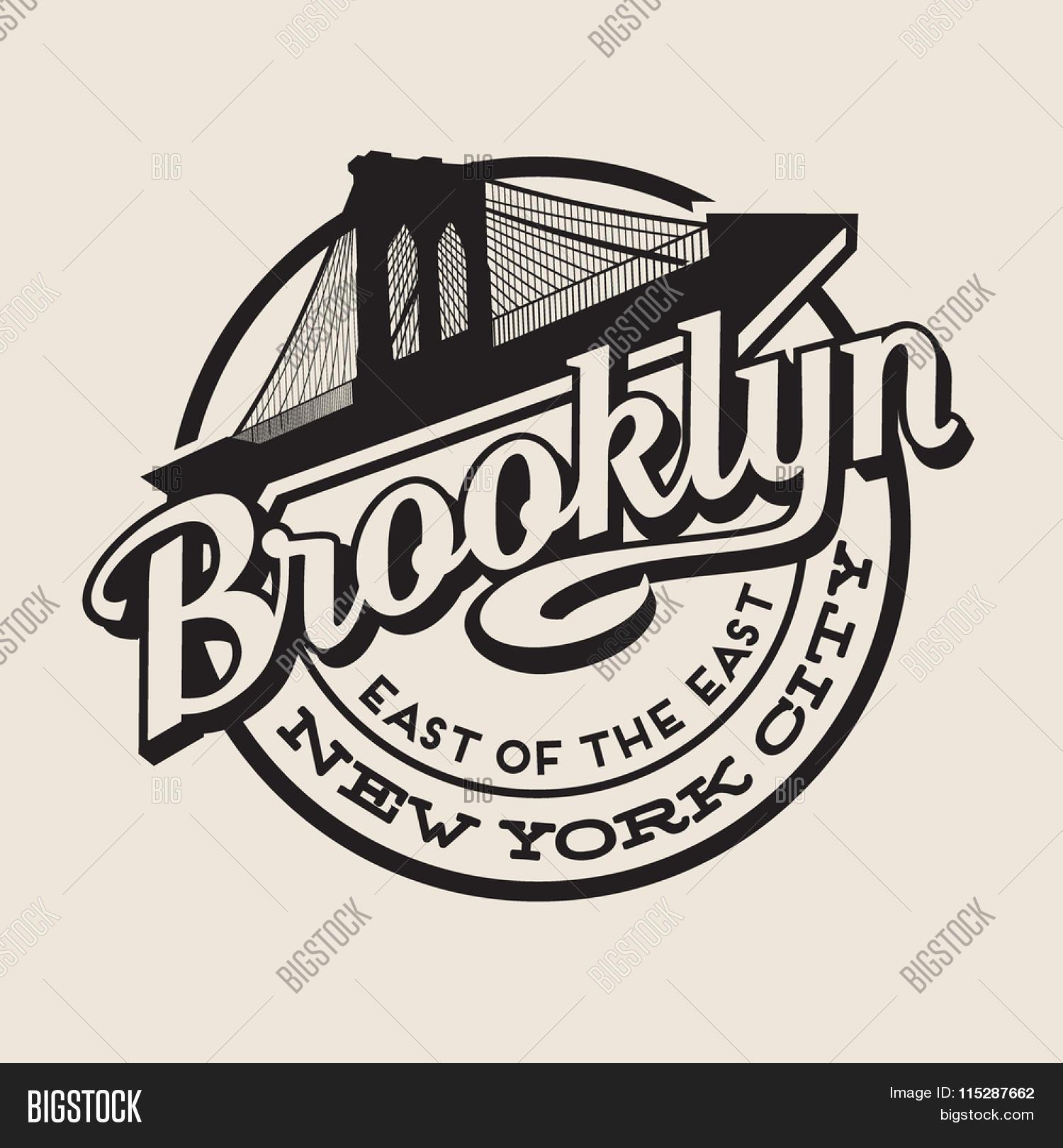 Brooklyn new york vector photo free trial bigstock for T shirt printing brooklyn