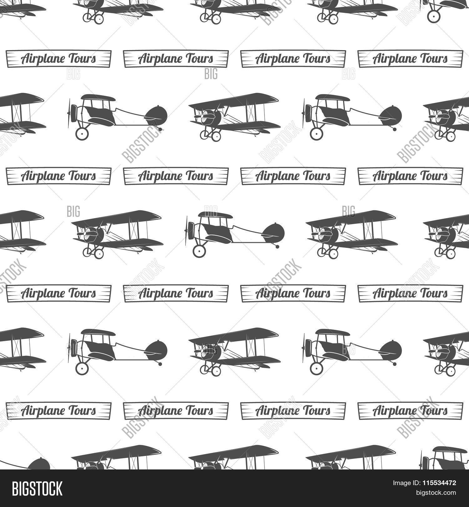 Vector Y Foto Vintage Airplane Prueba Gratis Bigstock