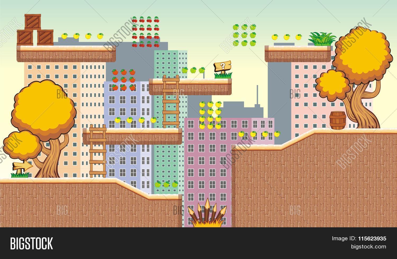 Game Tileset 40 Vector & Photo (Free Trial) | Bigstock